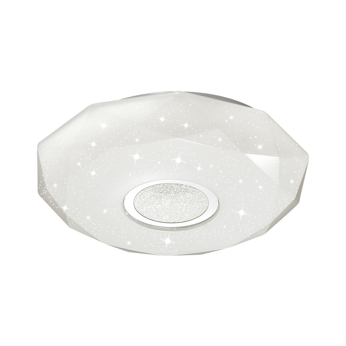 Потолочный светодиодный светильник Sonex Prisa 2057/DL, IP43, LED 48W 2360lm, белый, прозрачный, хром, металл, пластик - фото 1