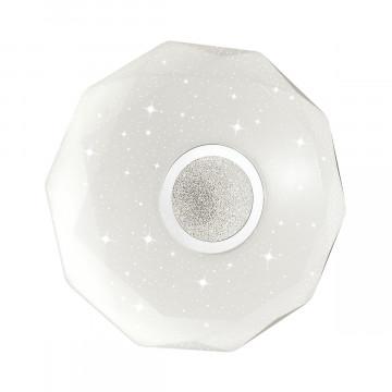 Потолочный светодиодный светильник Sonex Prisa 2057/DL, IP43, LED 48W 2360lm, белый, прозрачный, хром, металл, пластик - миниатюра 2
