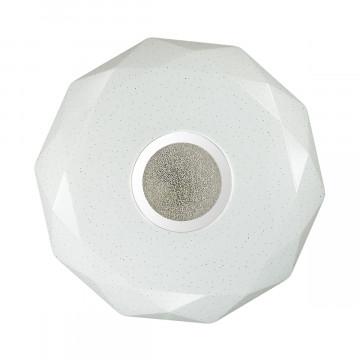 Потолочный светодиодный светильник Sonex Prisa 2057/DL, IP43, LED 48W 2360lm, белый, прозрачный, хром, металл, пластик - миниатюра 3