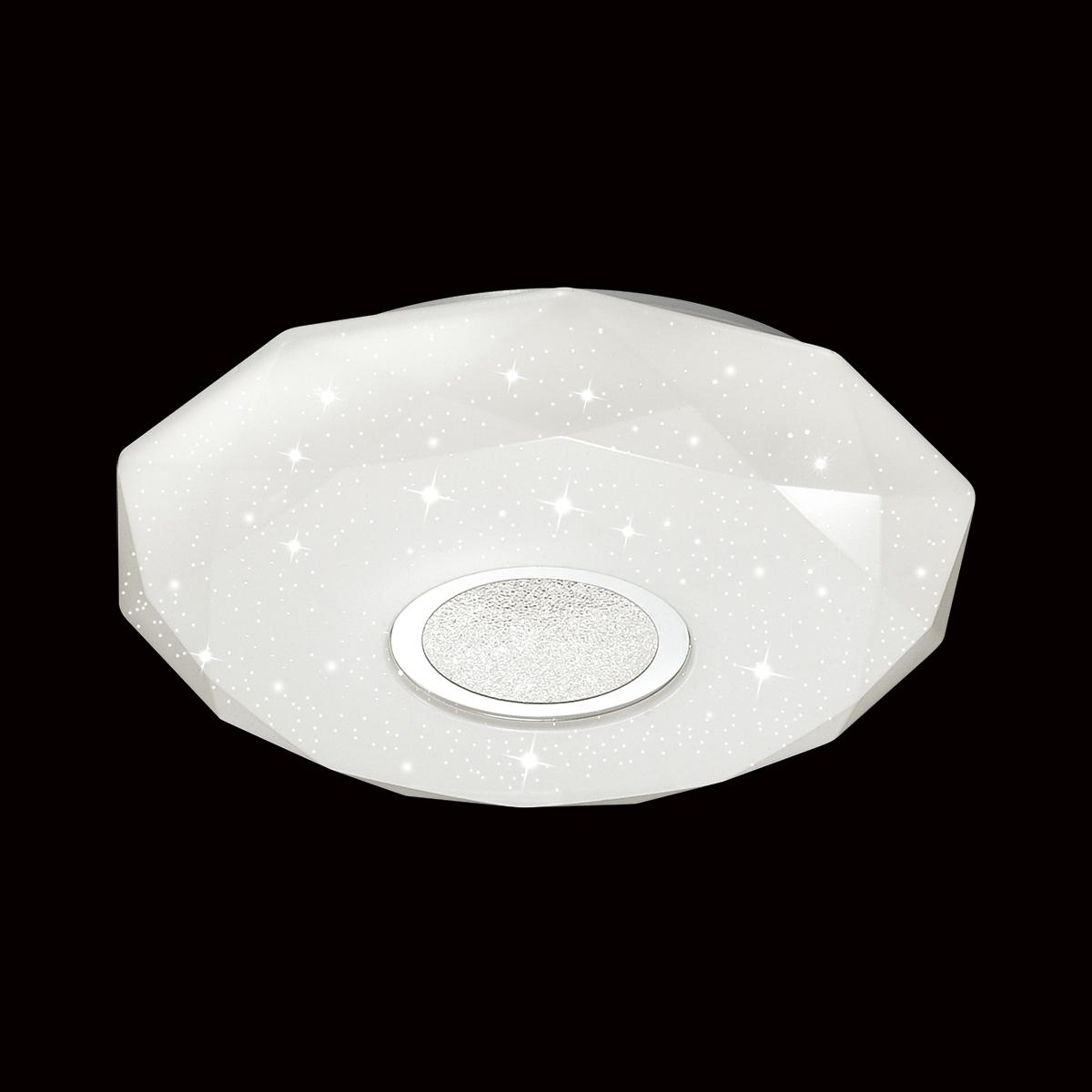Потолочный светодиодный светильник Sonex Prisa 2057/DL, IP43, LED 48W 2360lm, белый, прозрачный, хром, металл, пластик - фото 4