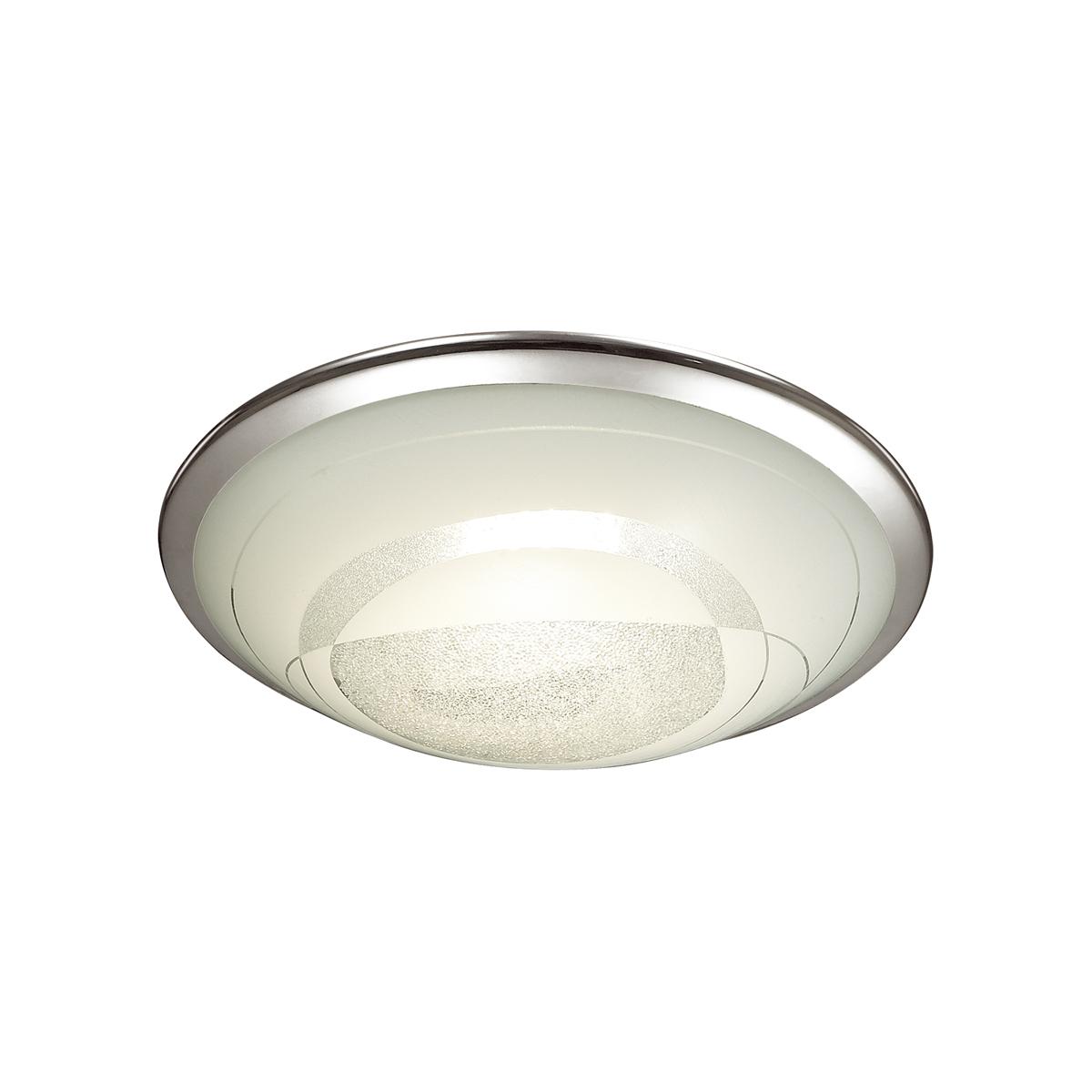 Потолочный светодиодный светильник Sonex Mabia 2062/CL, LED 28W 4000K 1419lm, хром, белый, металл, стекло - фото 1