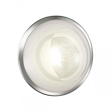 Потолочный светодиодный светильник Sonex Mabia 2062/CL, LED 28W 4000K 1419lm, хром, белый, металл, стекло - миниатюра 2