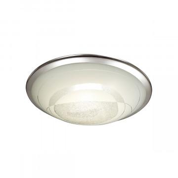 Потолочный светодиодный светильник Sonex Mabia 2062/DL, LED 48W 4000K 3400lm, хром, белый, металл, стекло