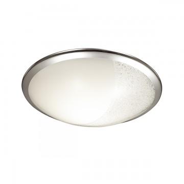Потолочный светодиодный светильник Sonex Keza 2063/CL, LED 28W 4000K 1419lm, хром, матовый, прозрачный, металл, стекло