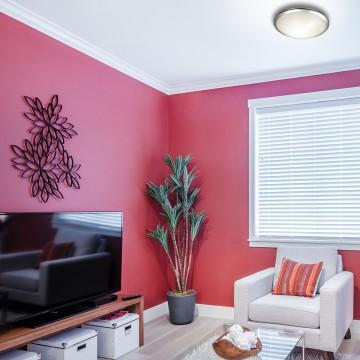 Потолочный светодиодный светильник Sonex Keza 2063/DL, LED 48W, хром, матовый, прозрачный, металл, стекло - миниатюра 7