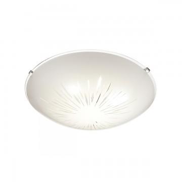 Потолочный светодиодный светильник Sonex Lukka 2064/BL, LED 24W 3800K 1144lm, хром, матовый, прозрачный, металл, стекло