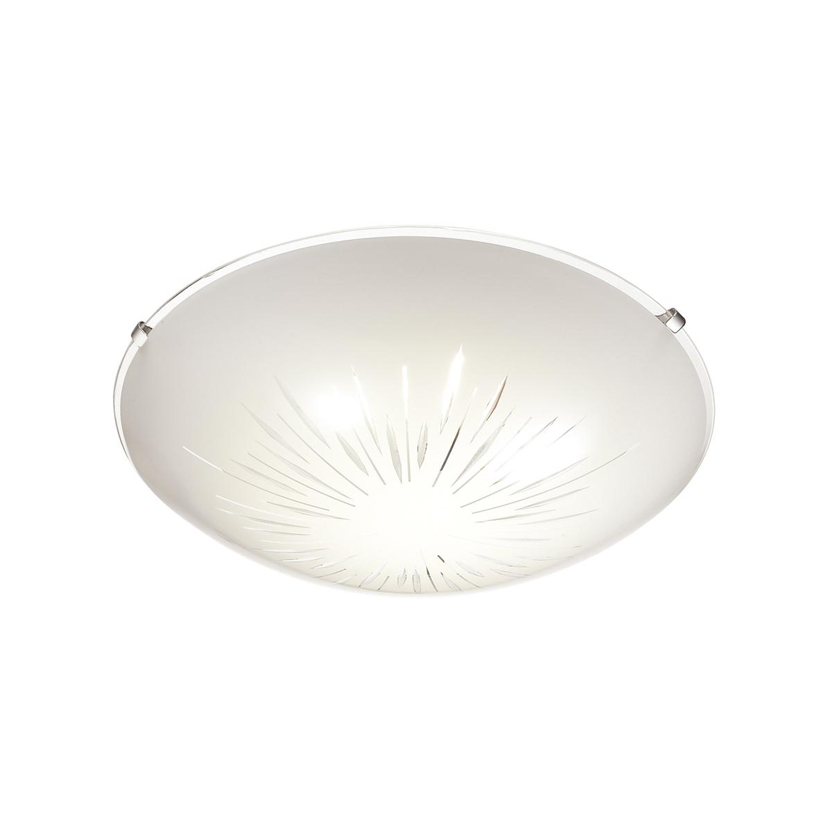 Потолочный светодиодный светильник Sonex Lukka 2064/DL, LED 48W, хром, матовый, прозрачный, металл, стекло - фото 1