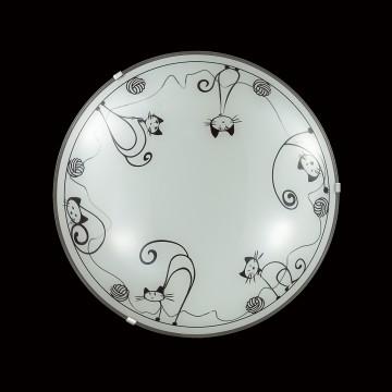 Потолочный светодиодный светильник Sonex Cats 2070/DL, LED 48W, хром, белый, черный, металл, стекло - миниатюра 2