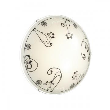 Потолочный светодиодный светильник Sonex Cats 2070/DL, LED 48W, хром, белый, черный, металл, стекло - миниатюра 3
