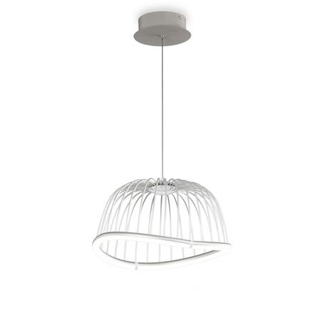Подвесной светодиодный светильник Mantra Celeste 6682, LED 20W 3000K 1400lm, белый, металл