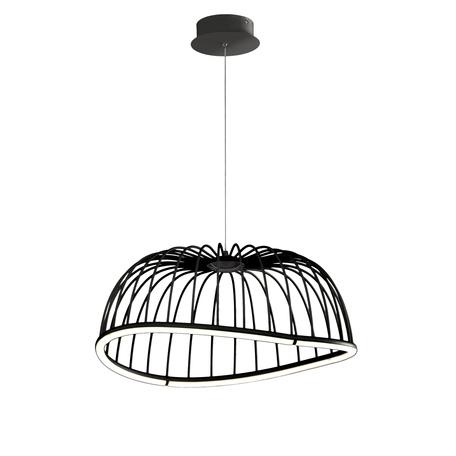 Подвесной светодиодный светильник Mantra Celeste 6684, LED 30W 3000K 2100lm, черный, металл