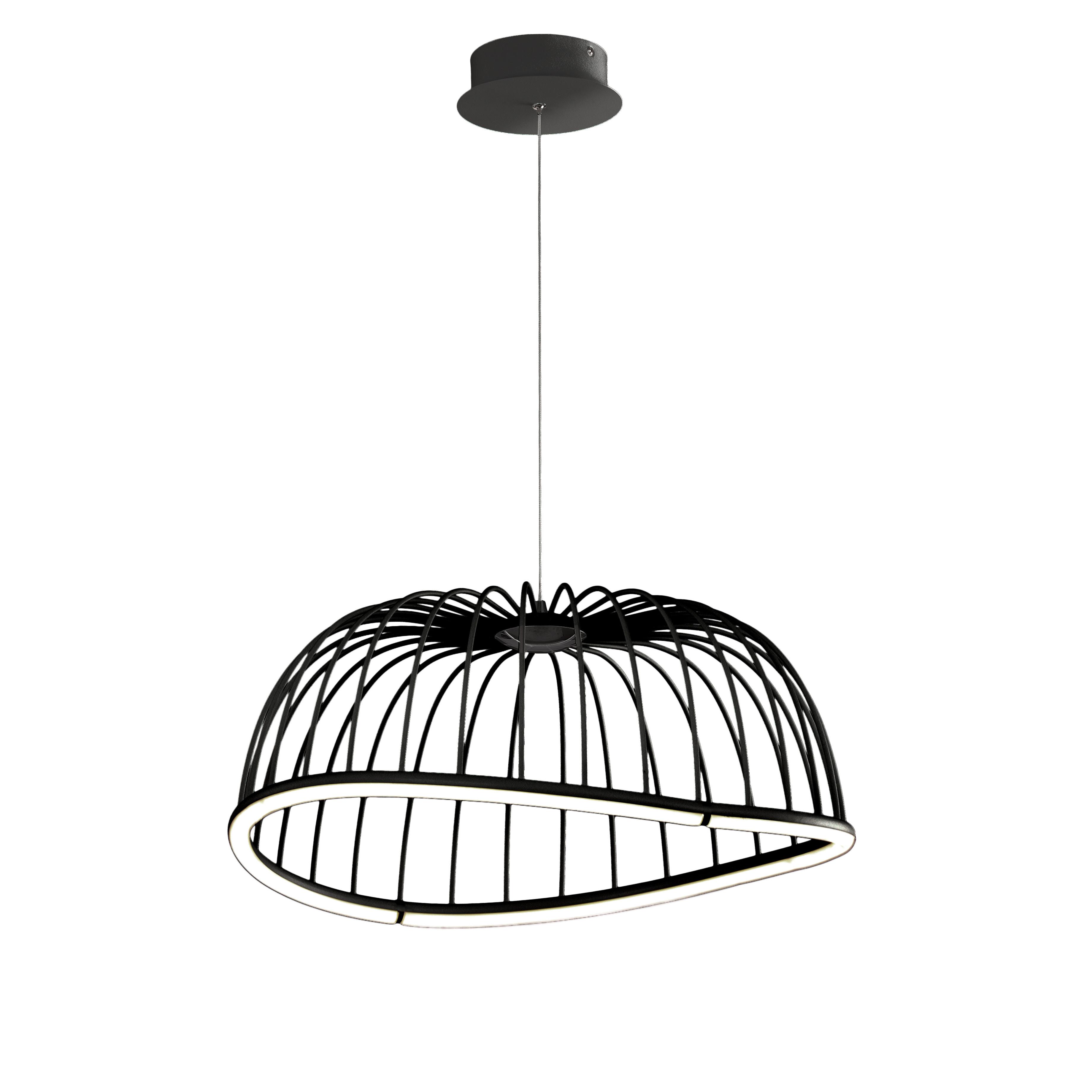 Подвесной светодиодный светильник Mantra Celeste 6684, LED 30W 3000K 2100lm, черный, металл - фото 1