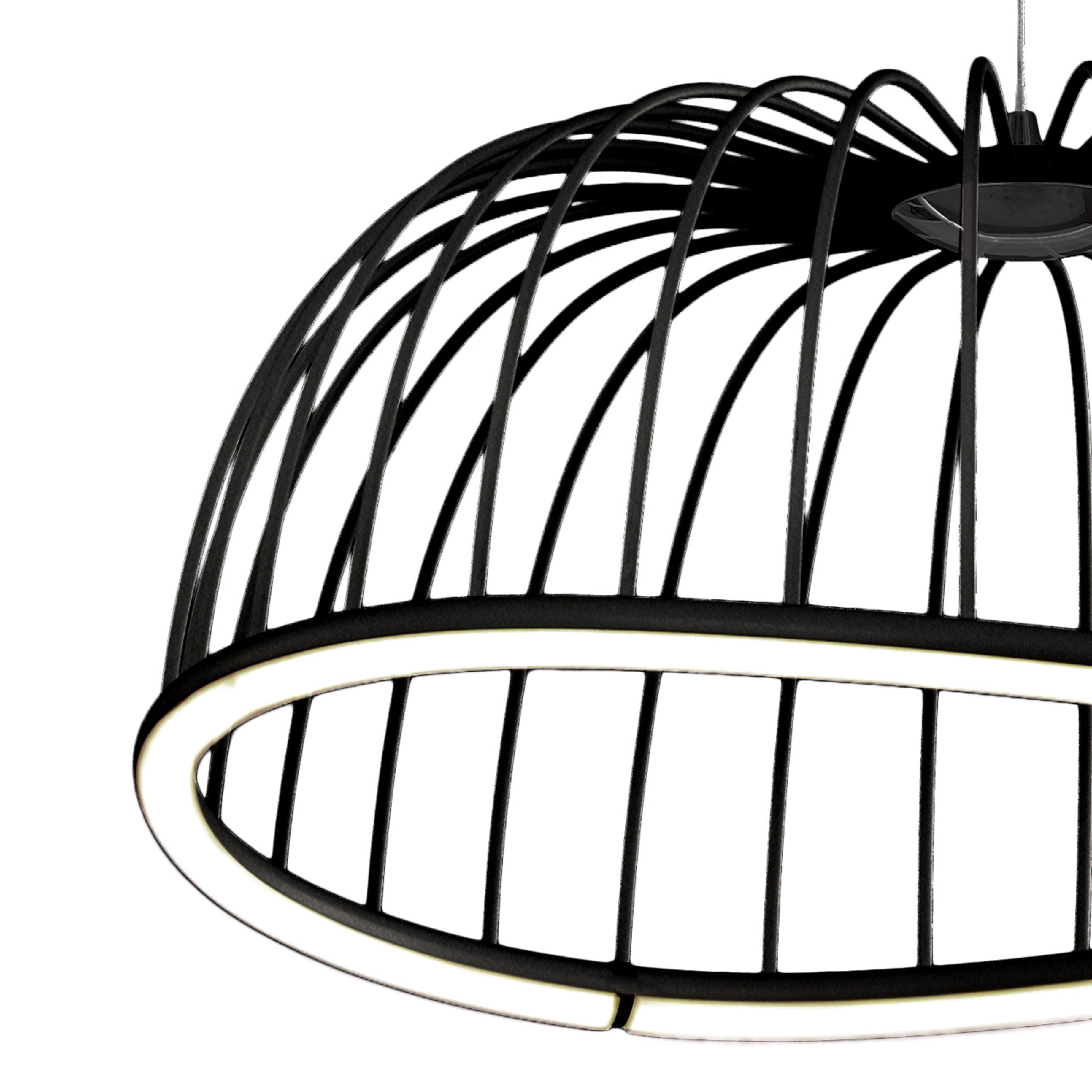 Подвесной светодиодный светильник Mantra Celeste 6684, LED 30W 3000K 2100lm, черный, металл - фото 3