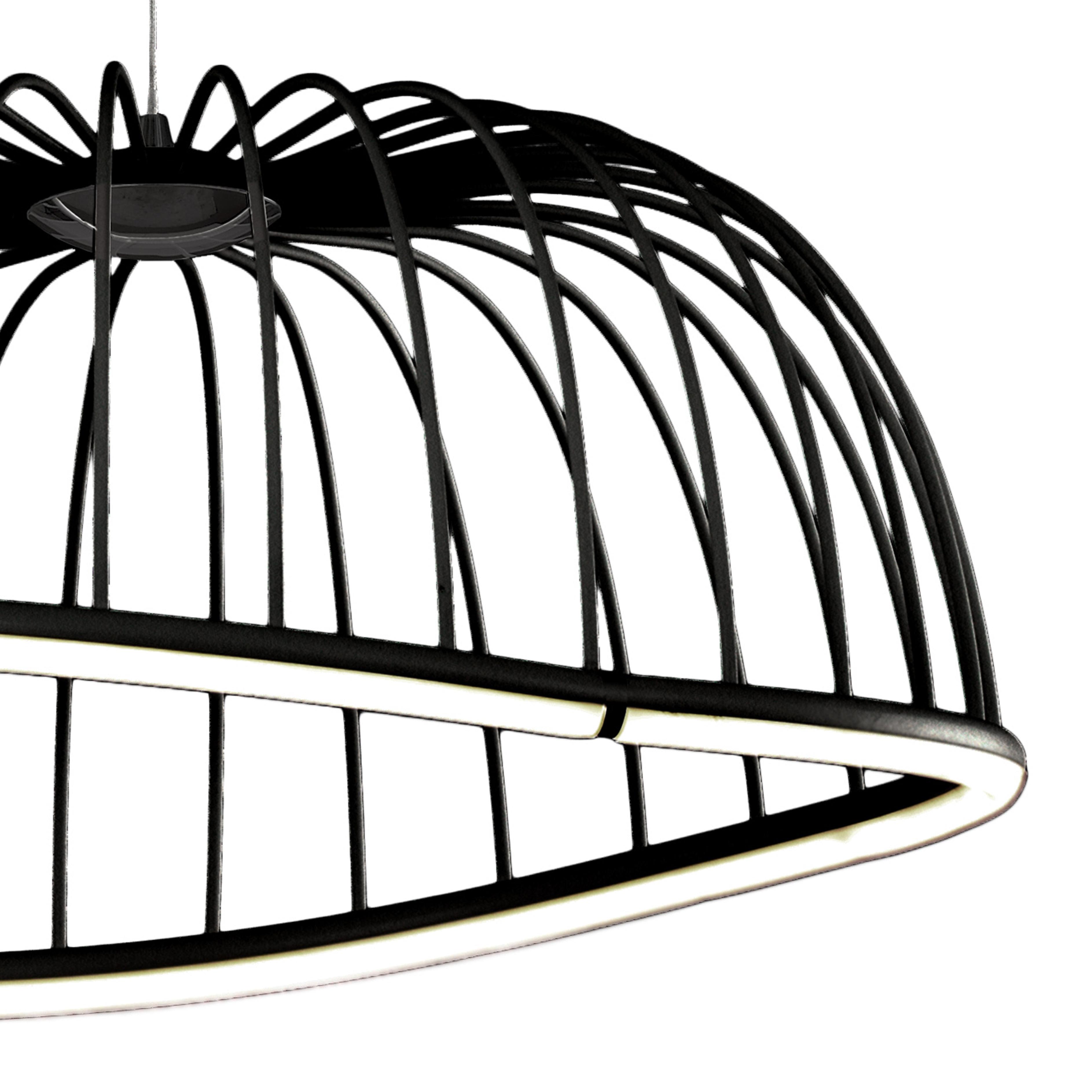Подвесной светодиодный светильник Mantra Celeste 6684, LED 30W 3000K 2100lm, черный, металл - фото 4
