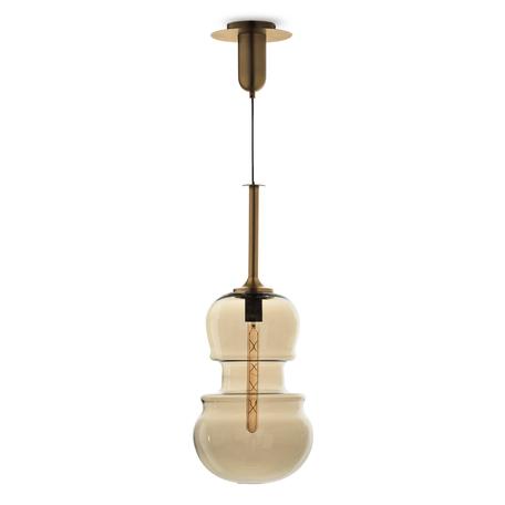 Подвесной светильник Mantra Sonata 6690, 1xE27x40W, бронза, янтарь, металл, стекло