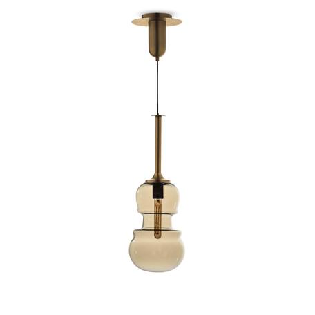 Подвесной светильник Mantra Sonata 6693, 1xE27x40W, бронза, янтарь, металл, стекло