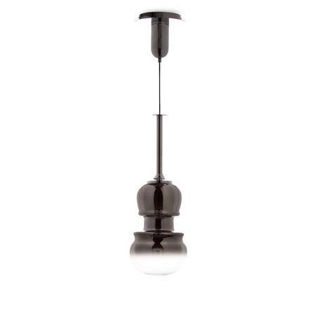 Подвесной светильник Mantra Sonata 6694, 1xE27x40W, хром, дымчатый, металл, стекло