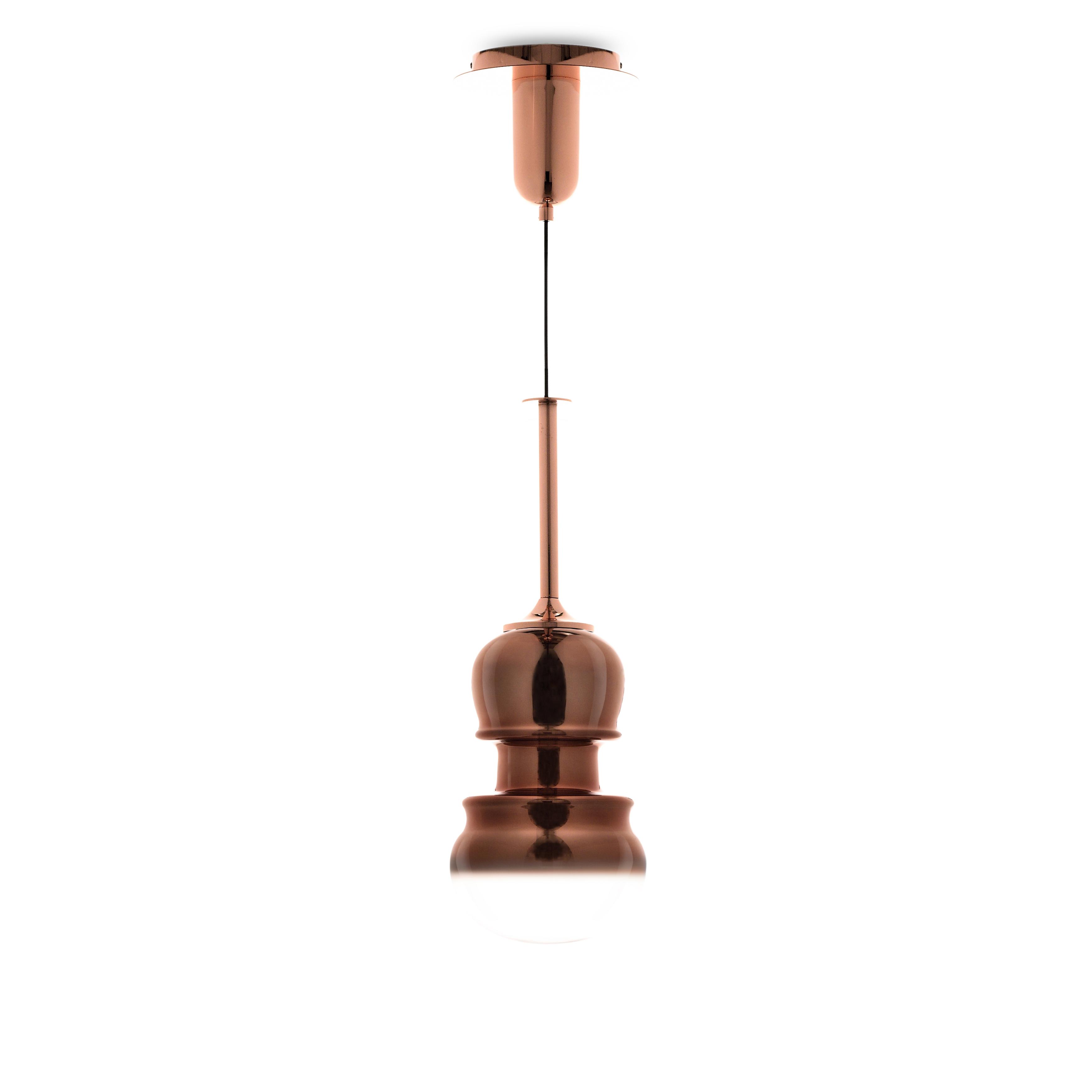 Подвесной светильник Mantra Sonata 6695, 1xE27x40W, медь, металл, стекло - фото 1