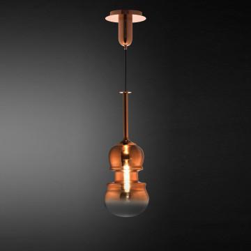 Подвесной светильник Mantra Sonata 6695, 1xE27x40W, медь, металл, стекло - миниатюра 2