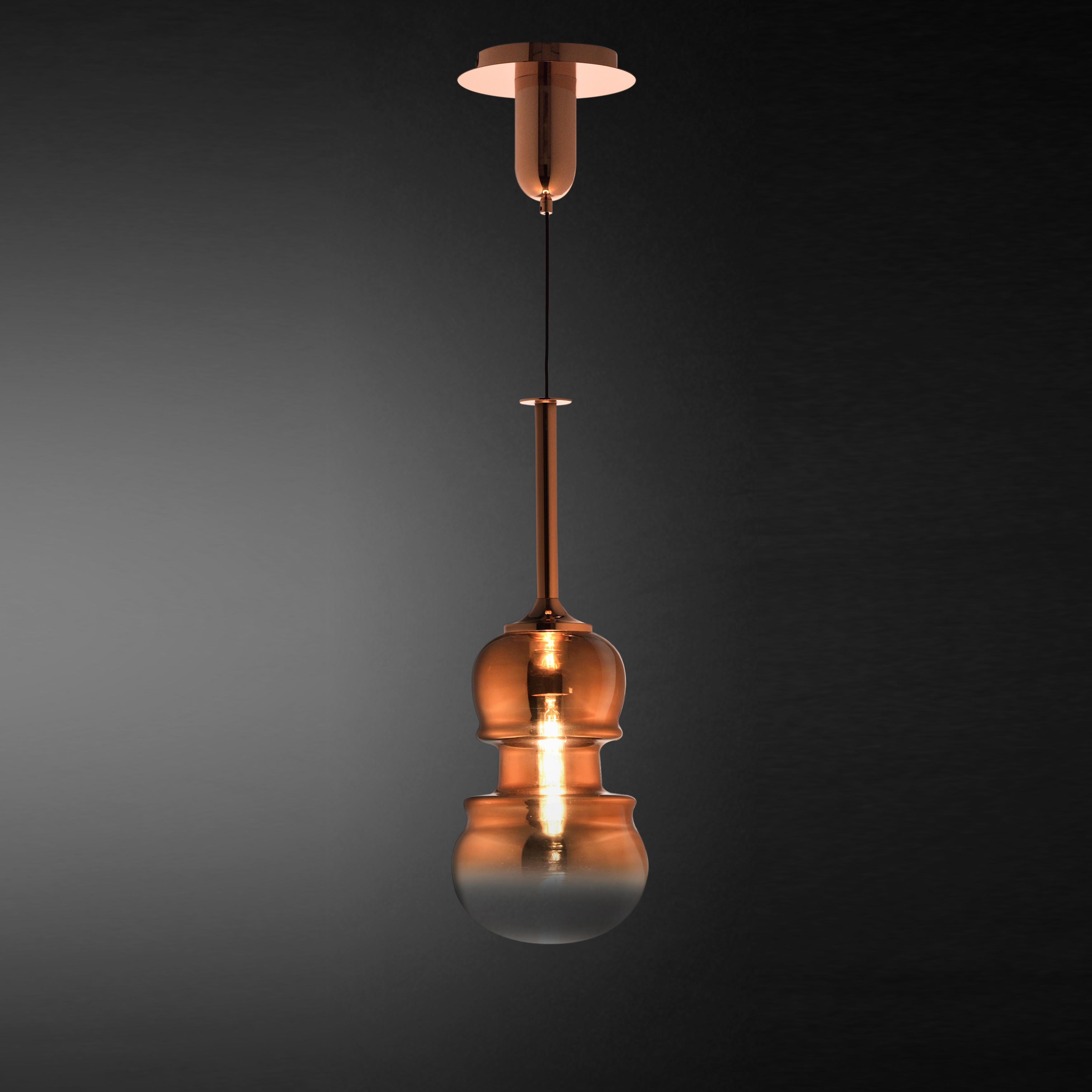 Подвесной светильник Mantra Sonata 6695, 1xE27x40W, медь, металл, стекло - фото 2
