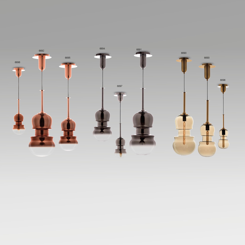 Подвесной светильник Mantra Sonata 6695, 1xE27x40W, медь, металл, стекло - фото 3