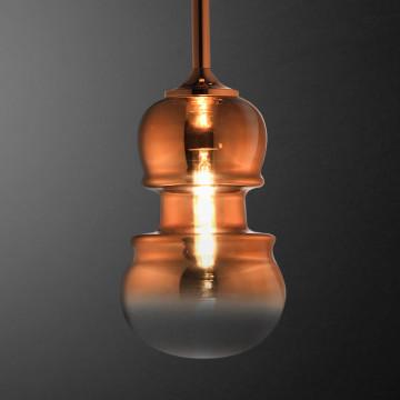 Подвесной светильник Mantra Sonata 6695, 1xE27x40W, медь, металл, стекло - миниатюра 4