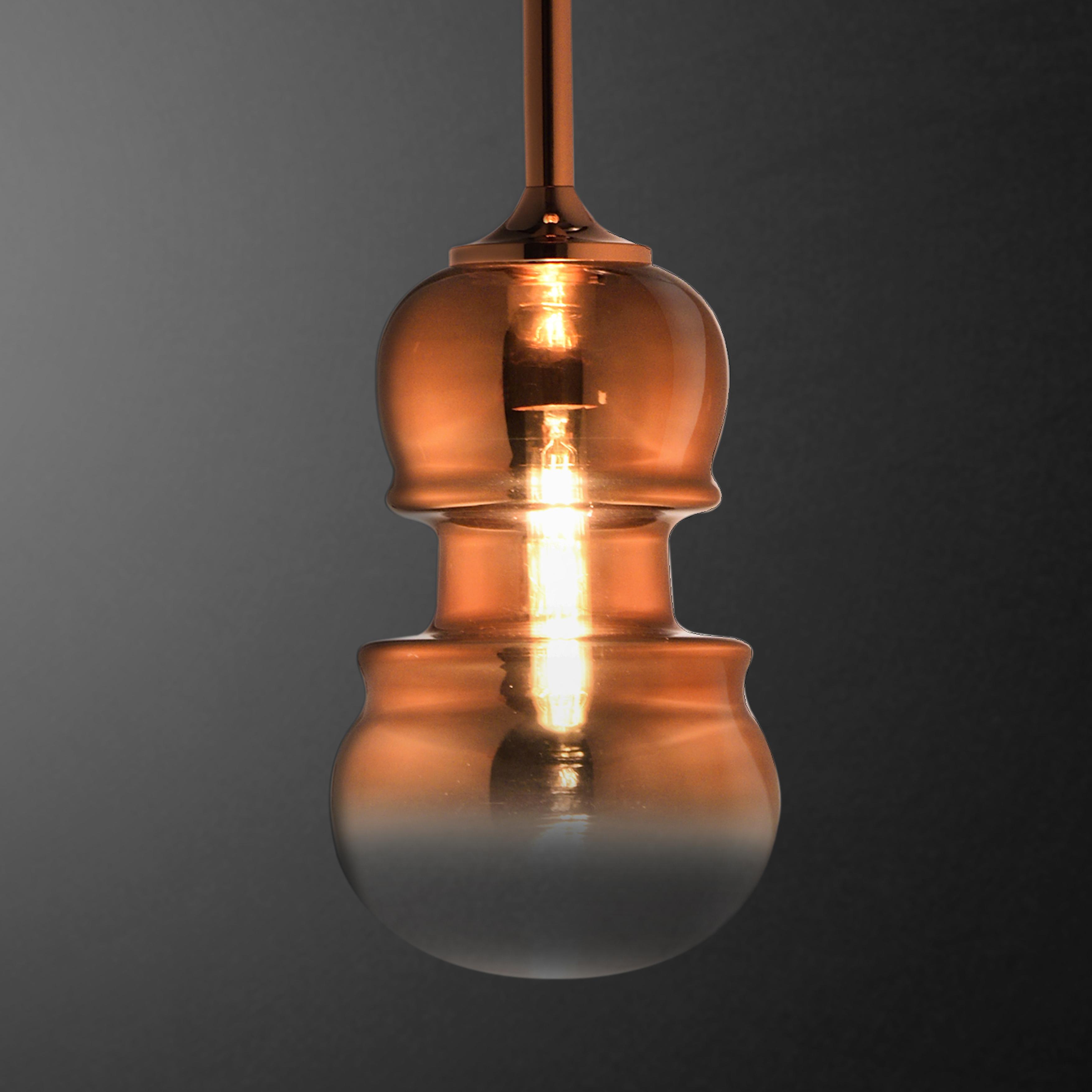 Подвесной светильник Mantra Sonata 6695, 1xE27x40W, медь, металл, стекло - фото 4