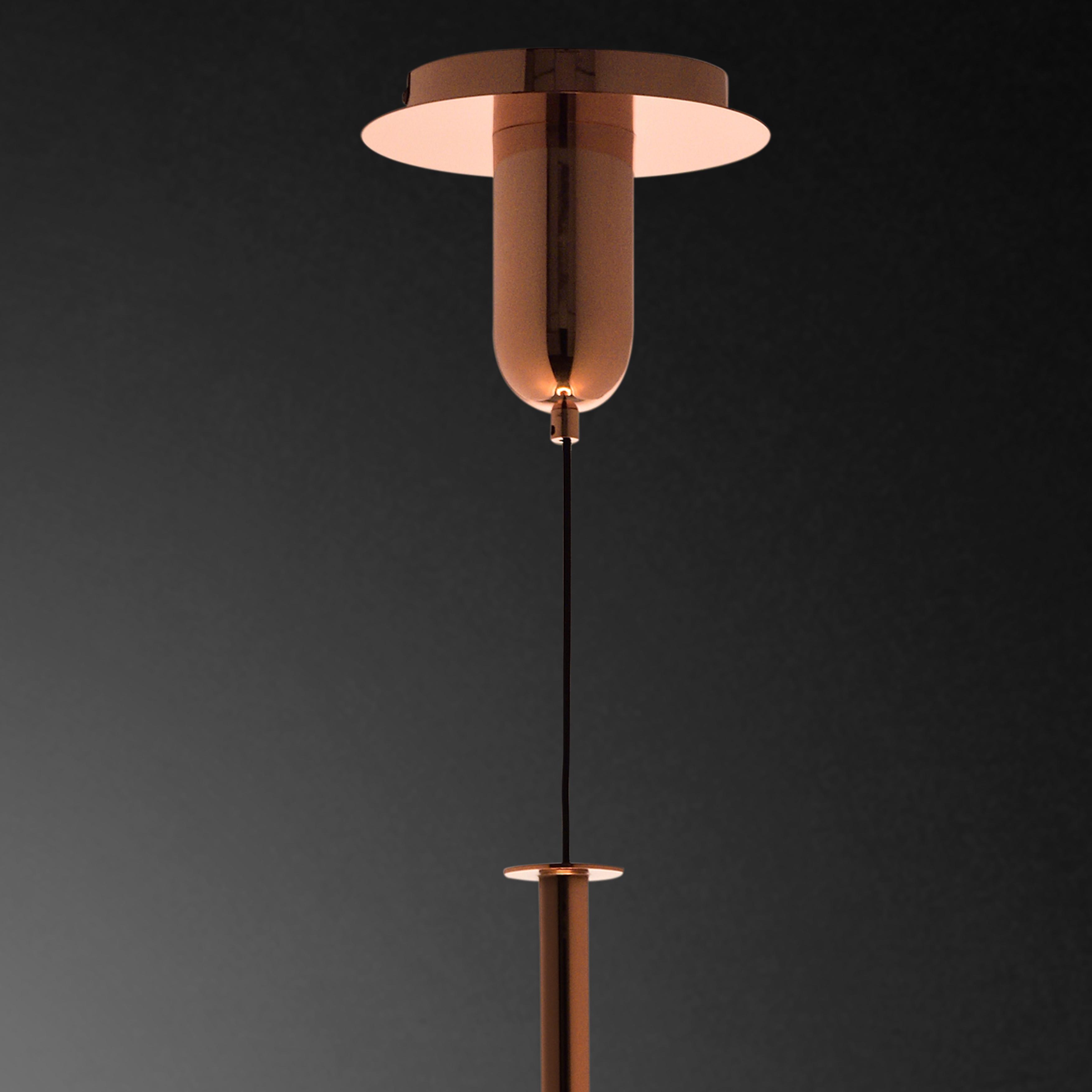 Подвесной светильник Mantra Sonata 6695, 1xE27x40W, медь, металл, стекло - фото 6