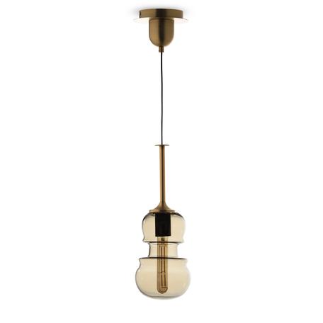 Подвесной светильник Mantra Sonata 6696, 1xE27x40W, бронза, янтарь, металл, стекло
