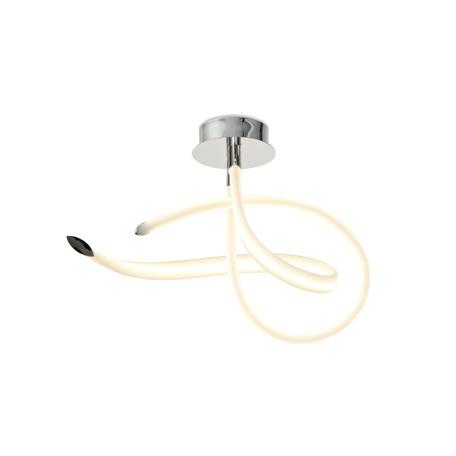 Потолочная светодиодная люстра Mantra Armonia 6731, LED 40W 3000K 3000lm, хром, белый, металл, пластик