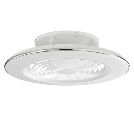 Потолочная светодиодная люстра-вентилятор с пультом ДУ Mantra Alisio 6705, LED 70W 4200lm, белый, металл, металл со стеклом/пластиком