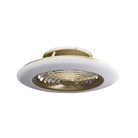 Потолочная светодиодная люстра-вентилятор с пультом ДУ Mantra Alisio 6707, LED 70W 4200lm, бронза, металл, металл со стеклом/пластиком