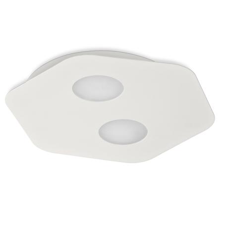 Потолочный светильник Mantra Area 6643, 2xGX53x9W, белый, металл, металл со стеклом/пластиком