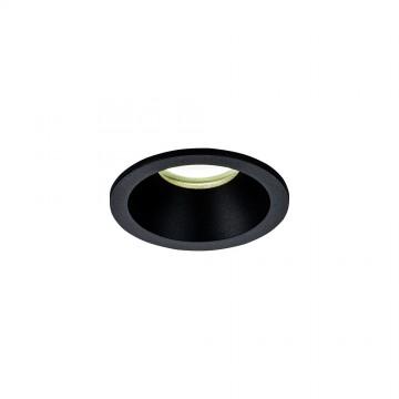 Встраиваемый светильник Mantra Comfort 6811, IP54, 1xGU10x12W, черный, металл