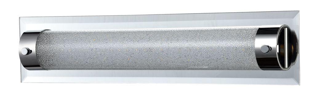 Настенный светодиодный светильник Maytoni Plasma C444-WL-01-13W-N (mod444-01-n), LED 13W 4000K 910lm CRI80, зеркальный, никель, прозрачный, стекло - фото 1