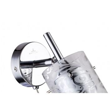 Настенный светильник с регулировкой направления света Maytoni Fresh - Spot SP005-CW-01-N (eco005-01-n), 1xGU10x50W, хром, металл, стекло - миниатюра 6