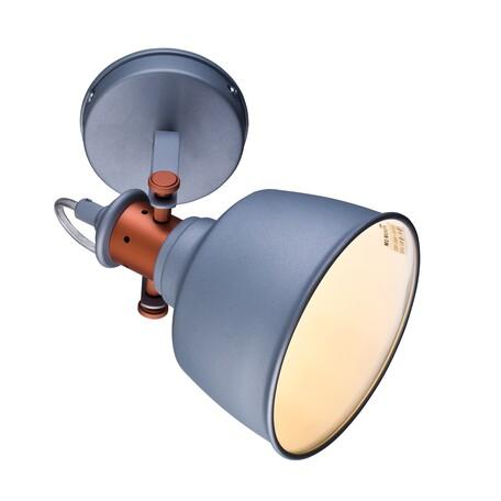 Потолочный светильник с регулировкой направления света Lucia Tucci Illuminazione INDUSTRIAL W1820.1 SAND SILVER, 1xE14x60W