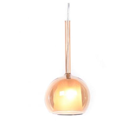 Подвесной светильник Lumina Deco Priola LDP 1187 AMBER, 1xE27x40W, хром, янтарь, металл, стекло
