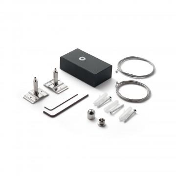 Набор для подвесного монтажа модульной системы Ideal Lux FLUO KIT PENDANT BLACK 5 MT 215891, черный, металл