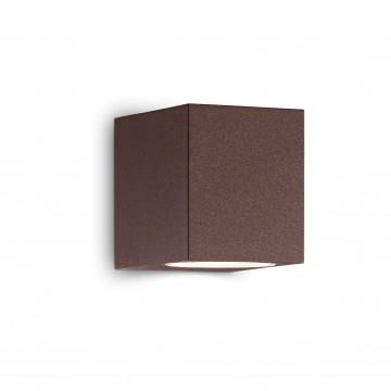 Настенный светильник Ideal Lux UP AP1 COFFEE 213347, IP44, 1xG9x15W, коричневый, металл, стекло