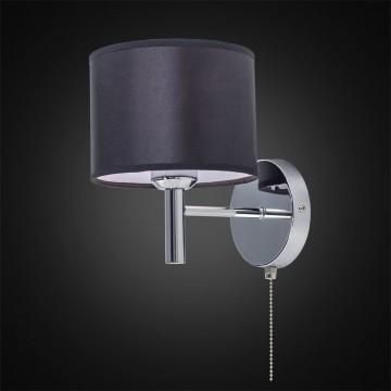 Бра Citilux Аврора CL463311, 1xE27x75W, хром, черный, металл, текстиль - миниатюра 2
