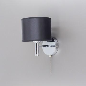 Бра Citilux Аврора CL463311, 1xE27x75W, хром, черный, металл, текстиль - миниатюра 4