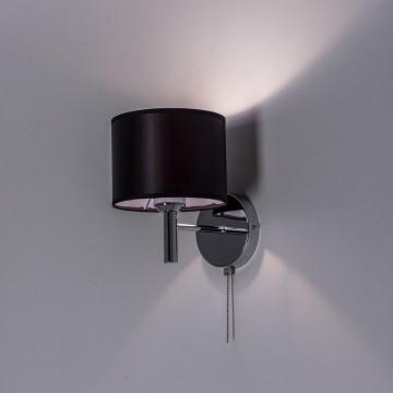 Бра Citilux Аврора CL463311, 1xE27x75W, хром, черный, металл, текстиль - миниатюра 7