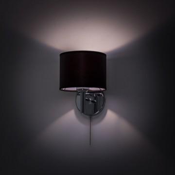 Бра Citilux Аврора CL463311, 1xE27x75W, хром, черный, металл, текстиль - миниатюра 8
