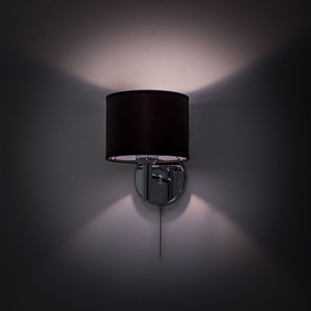 Бра Citilux Аврора CL463311, 1xE27x75W, хром, черный, металл, текстиль - фото 8