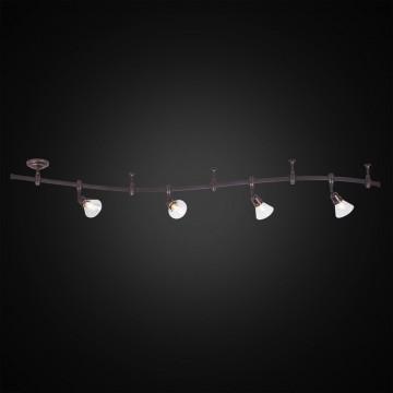 Гибкая система освещения Citilux Бисмарк CL564541, 4xE14x60W, венге, прозрачный, металл, стекло - миниатюра 2