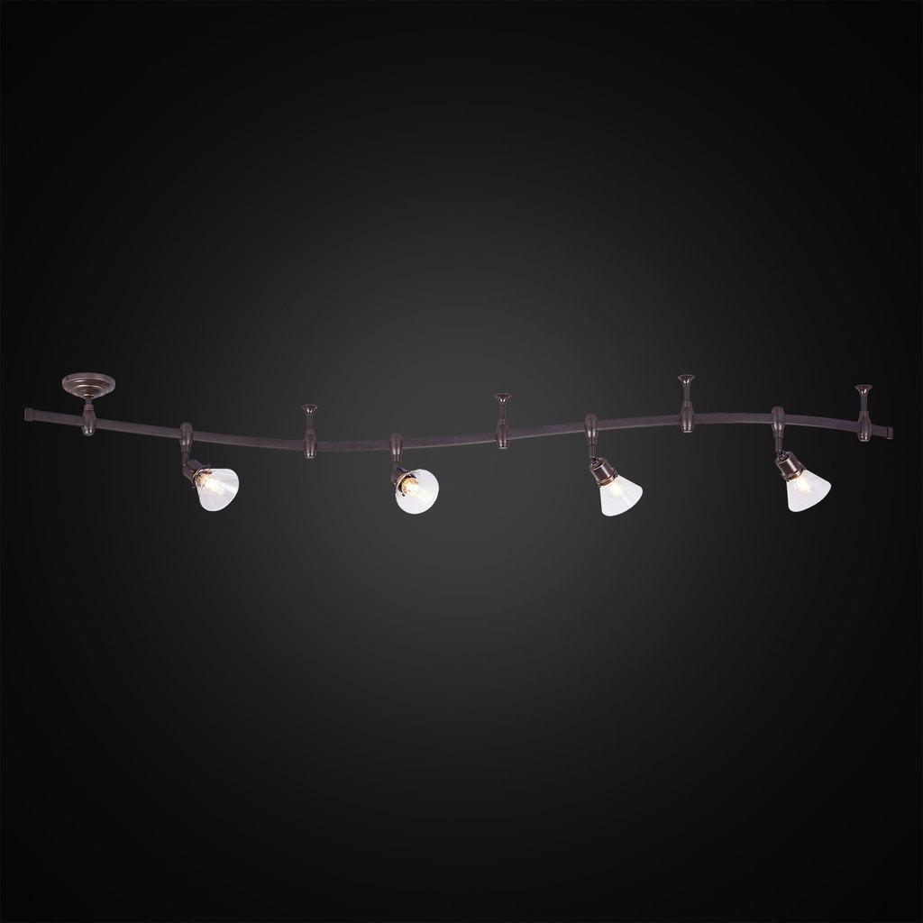 Гибкая система освещения Citilux Бисмарк CL564541, 4xE14x60W, венге, прозрачный, металл, стекло - фото 2