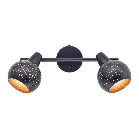 Настенный светильник с регулировкой направления света Citilux Деко CL504522, 2xE14x60W, черный, металл