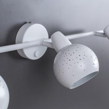 Настенный светильник с регулировкой направления света Citilux Деко CL504530, 3xE14x60W, белый, металл - миниатюра 10