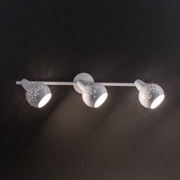 Настенный светильник с регулировкой направления света Citilux Деко CL504530, 3xE14x60W, белый, металл - миниатюра 2